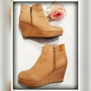 Aldo leather  Ankle  booties  Natural.Size 37 (7)